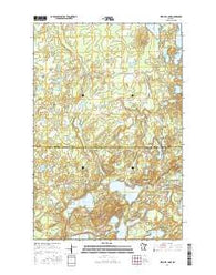 Mitchell Lake Minnesota Current topographic map, 1:24000 scale, 7.5 X 7.5 Minute, Year 2016