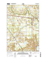 Motley Minnesota Current topographic map, 1:24000 scale, 7.5 X 7.5 Minute, Year 2016