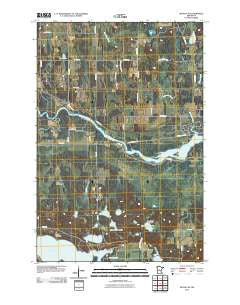 Motley SE Minnesota Historical topographic map, 1:24000 scale, 7.5 X 7.5 Minute, Year 2010