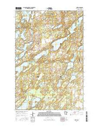 Nevis Minnesota Current topographic map, 1:24000 scale, 7.5 X 7.5 Minute, Year 2016