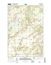 Nimrod Minnesota Current topographic map, 1:24000 scale, 7.5 X 7.5 Minute, Year 2016