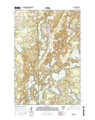 Nisswa Minnesota Current topographic map, 1:24000 scale, 7.5 X 7.5 Minute, Year 2016