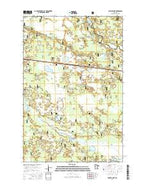 Nushka Lake Minnesota Current topographic map, 1:24000 scale, 7.5 X 7.5 Minute, Year 2016 from Minnesota Map Store