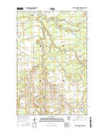 O'Brien Lookout Tower Minnesota Current topographic map, 1:24000 scale, 7.5 X 7.5 Minute, Year 2016 from Minnesota Map Store