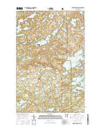 Ogishkemuncie Lake Minnesota Current topographic map, 1:24000 scale, 7.5 X 7.5 Minute, Year 2016 from Minnesota Map Store