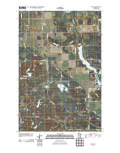 Osage Minnesota Historical topographic map, 1:24000 scale, 7.5 X 7.5 Minute, Year 2010
