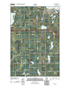 Osakis Minnesota Historical topographic map, 1:24000 scale, 7.5 X 7.5 Minute, Year 2010
