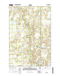 Oylen Minnesota Current topographic map, 1:24000 scale, 7.5 X 7.5 Minute, Year 2016