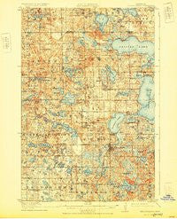 Pelican Rapids Minnesota Historical topographic map, 1:62500 scale, 15 X 15 Minute, Year 1917