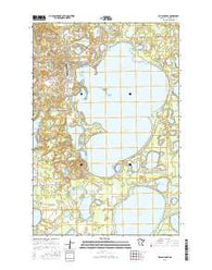 Pelican Lake Minnesota Current topographic map, 1:24000 scale, 7.5 X 7.5 Minute, Year 2016