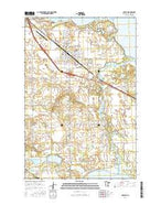 Perham Minnesota Current topographic map, 1:24000 scale, 7.5 X 7.5 Minute, Year 2016 from Minnesota Map Store