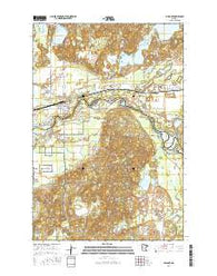 Pillager Minnesota Current topographic map, 1:24000 scale, 7.5 X 7.5 Minute, Year 2016