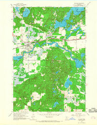 Pillager Minnesota Historical topographic map, 1:24000 scale, 7.5 X 7.5 Minute, Year 1954