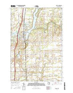 Pine City Minnesota Current topographic map, 1:24000 scale, 7.5 X 7.5 Minute, Year 2016 from Minnesota Map Store