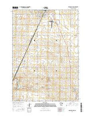 Pipestone South Minnesota Current topographic map, 1:24000 scale, 7.5 X 7.5 Minute, Year 2016 from Minnesota Maps Store