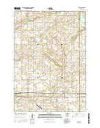 Plato Minnesota Current topographic map, 1:24000 scale, 7.5 X 7.5 Minute, Year 2016 from Minnesota Map Store