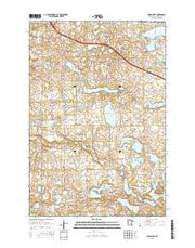 Quam Lake Minnesota Current topographic map, 1:24000 scale, 7.5 X 7.5 Minute, Year 2016 from Minnesota Maps Store