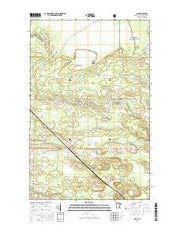 Ray Minnesota Current topographic map, 1:24000 scale, 7.5 X 7.5 Minute, Year 2016 from Minnesota Maps Store