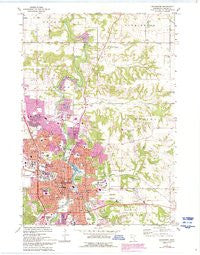 Rochester Minnesota Historical topographic map, 1:24000 scale, 7.5 X 7.5 Minute, Year 1972