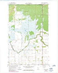 Roseau NE Minnesota Historical topographic map, 1:24000 scale, 7.5 X 7.5 Minute, Year 1966