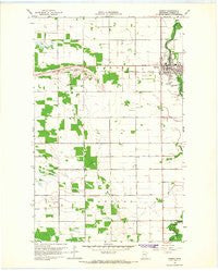 Roseau Minnesota Historical topographic map, 1:24000 scale, 7.5 X 7.5 Minute, Year 1966