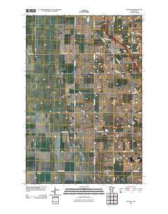Rothsay Minnesota Historical topographic map, 1:24000 scale, 7.5 X 7.5 Minute, Year 2010