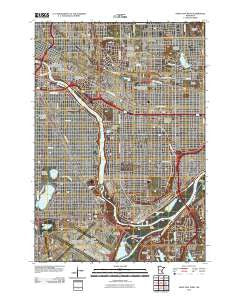 Saint Paul West Minnesota Historical topographic map, 1:24000 scale, 7.5 X 7.5 Minute, Year 2010