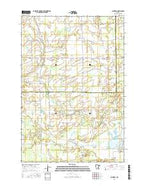 Santiago Minnesota Current topographic map, 1:24000 scale, 7.5 X 7.5 Minute, Year 2016 from Minnesota Map Store
