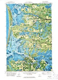 Saum Minnesota Historical topographic map, 1:24000 scale, 7.5 X 7.5 Minute, Year 1972