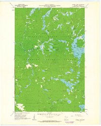 Sawbill Camp Minnesota Historical topographic map, 1:24000 scale, 7.5 X 7.5 Minute, Year 1960
