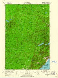 Silver Bay Minnesota Historical topographic map, 1:62500 scale, 15 X 15 Minute, Year 1954