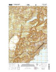 Silver Bay Minnesota Current topographic map, 1:24000 scale, 7.5 X 7.5 Minute, Year 2016 from Minnesota Maps Store