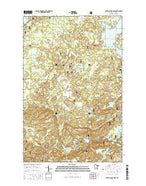 Silver Island Lake Minnesota Current topographic map, 1:24000 scale, 7.5 X 7.5 Minute, Year 2016 from Minnesota Map Store