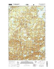 Silver Island Lake Minnesota Current topographic map, 1:24000 scale, 7.5 X 7.5 Minute, Year 2016 from Minnesota Maps Store