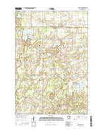 Springvale Minnesota Current topographic map, 1:24000 scale, 7.5 X 7.5 Minute, Year 2016 from Minnesota Map Store