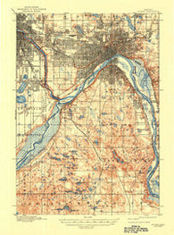St. Paul Minnesota Historical topographic map, 1:62500 scale, 15 X 15 Minute, Year 1896