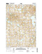 Sunburg Minnesota Current topographic map, 1:24000 scale, 7.5 X 7.5 Minute, Year 2016 from Minnesota Map Store