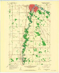 Thief River Falls Minnesota Historical topographic map, 1:24000 scale, 7.5 X 7.5 Minute, Year 1959