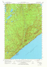 Tofte Minnesota Historical topographic map, 1:62500 scale, 15 X 15 Minute, Year 1955