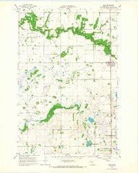 Ulen Minnesota Historical topographic map, 1:24000 scale, 7.5 X 7.5 Minute, Year 1966
