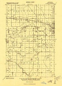 Valley Minnesota Historical topographic map, 1:62500 scale, 15 X 15 Minute, Year 1919