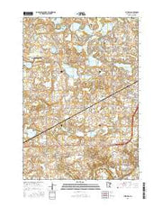 Victoria Minnesota Current topographic map, 1:24000 scale, 7.5 X 7.5 Minute, Year 2016 from Minnesota Maps Store