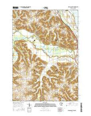 Wabasha South Minnesota Current topographic map, 1:24000 scale, 7.5 X 7.5 Minute, Year 2016 from Minnesota Maps Store
