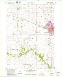 Waseca Minnesota Historical topographic map, 1:24000 scale, 7.5 X 7.5 Minute, Year 1966