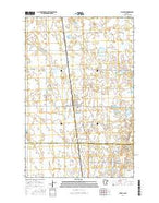 Waubun Minnesota Current topographic map, 1:24000 scale, 7.5 X 7.5 Minute, Year 2016 from Minnesota Map Store