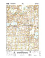 Waverly Minnesota Current topographic map, 1:24000 scale, 7.5 X 7.5 Minute, Year 2016 from Minnesota Map Store