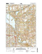 White Bear Lake East Minnesota Current topographic map, 1:24000 scale, 7.5 X 7.5 Minute, Year 2016 from Minnesota Map Store