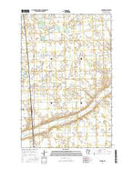Winger Minnesota Current topographic map, 1:24000 scale, 7.5 X 7.5 Minute, Year 2016 from Minnesota Map Store
