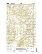 Zerkel NW Minnesota Current topographic map, 1:24000 scale, 7.5 X 7.5 Minute, Year 2016 from Minnesota Map Store