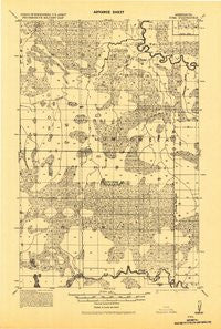 Zora Minnesota Historical topographic map, 1:62500 scale, 15 X 15 Minute, Year 1918